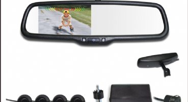 Rear View Mirror with Sensors
